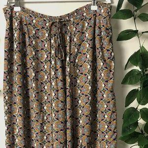 Zen Garden Size Medium Boho Pants - Earthy Tones -